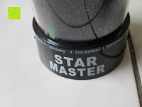 Aufdruck vorne: LED Sternenhimmel Star Master Nachtlicht Lampe Mobiler Sternen-Projektor Himmel