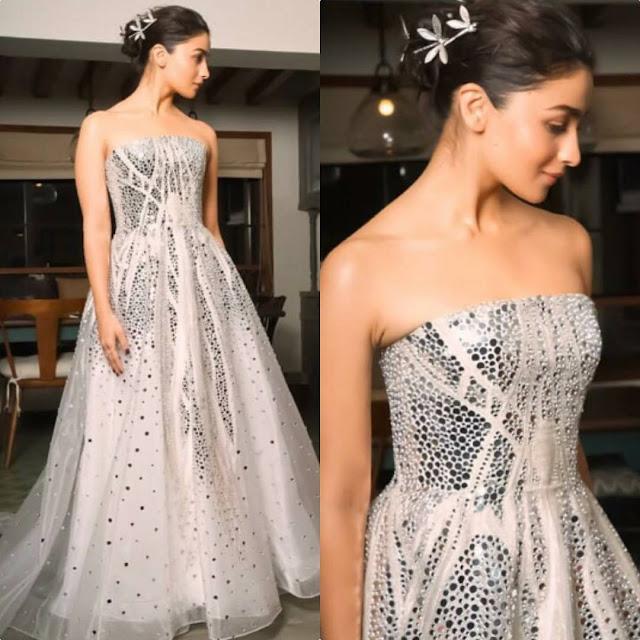 Alia bhatt in Atelier Zuhra Gown