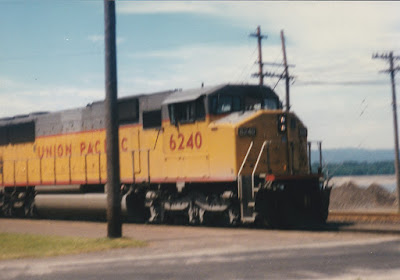 Union Pacific SD60M #6240 in Vancouver, Washington, on July 13, 1997