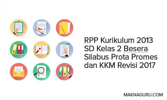 RPP Kurikulum 2013 SD Kelas 2 Besera Silabus Prota Promes dan KKM Revisi 2017