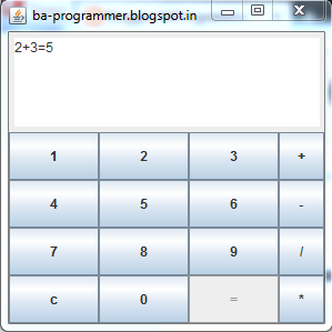 simple calculator in java - BAProgrammer