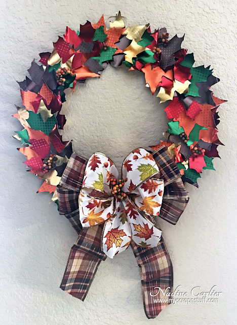 Autumn Wreath with Rinea Foiled Paper