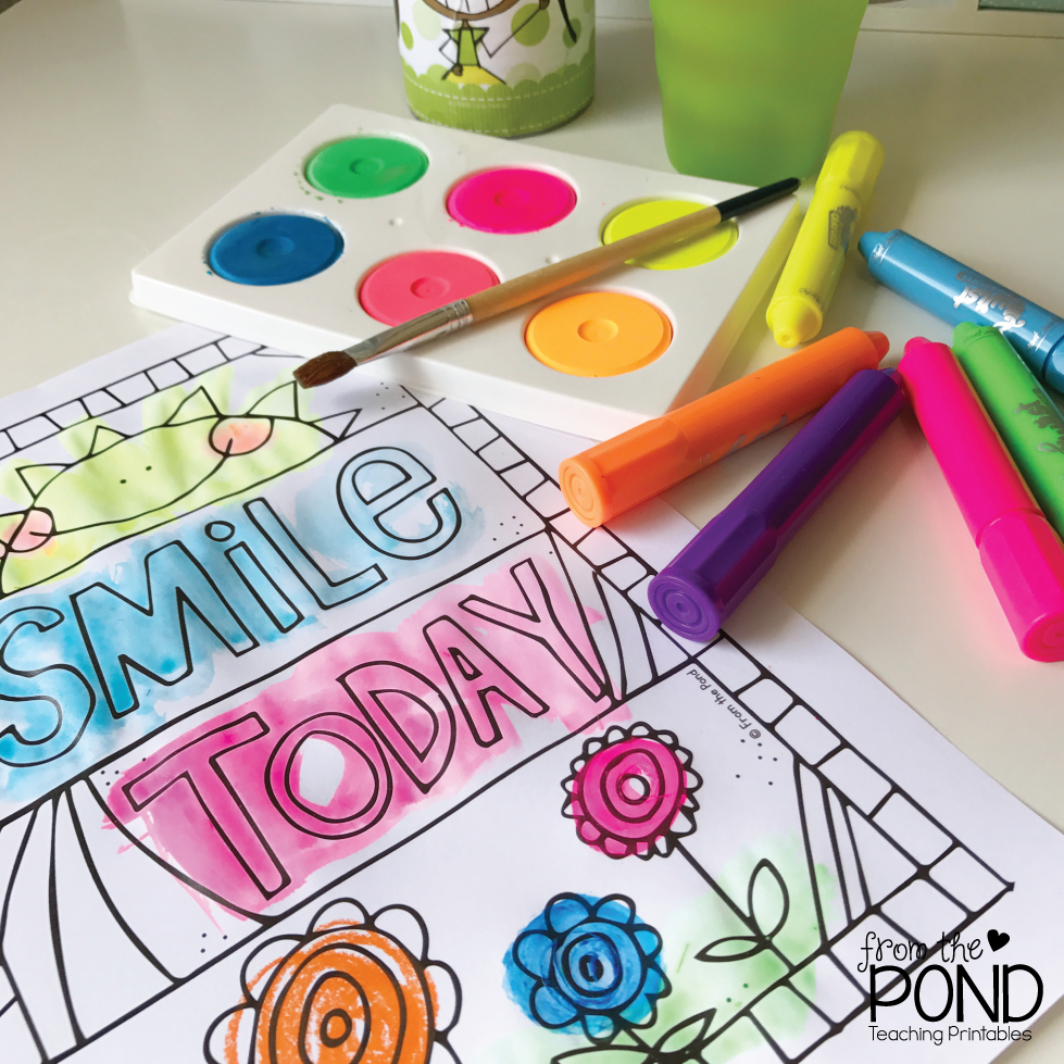 Free Happy Coloring Pages