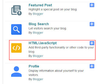 html/javascript widget blogspot