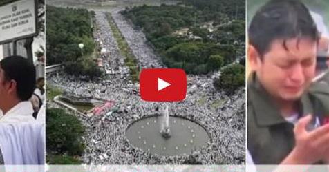 VIDEO: 5 Menit Dokumentasi Aksi 212 Yang Menggugah Hati Dan Menguras Air Mata