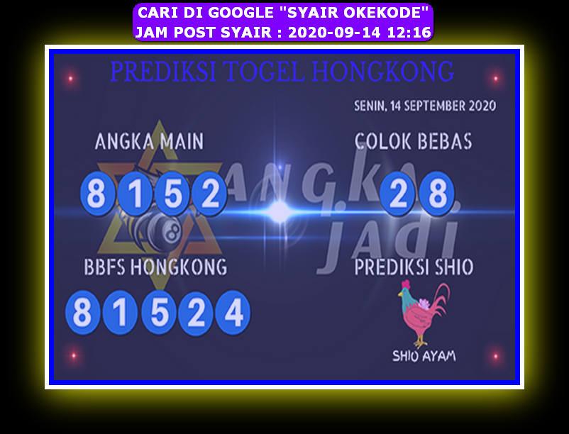 Kode syair Hongkong Senin 14 September 2020 245