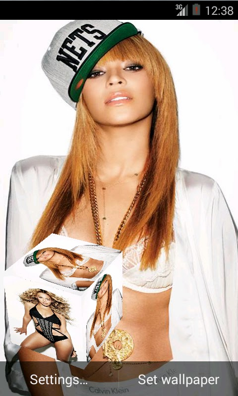 Beyonce 3D live Wallpaper For Android Mobile Phone