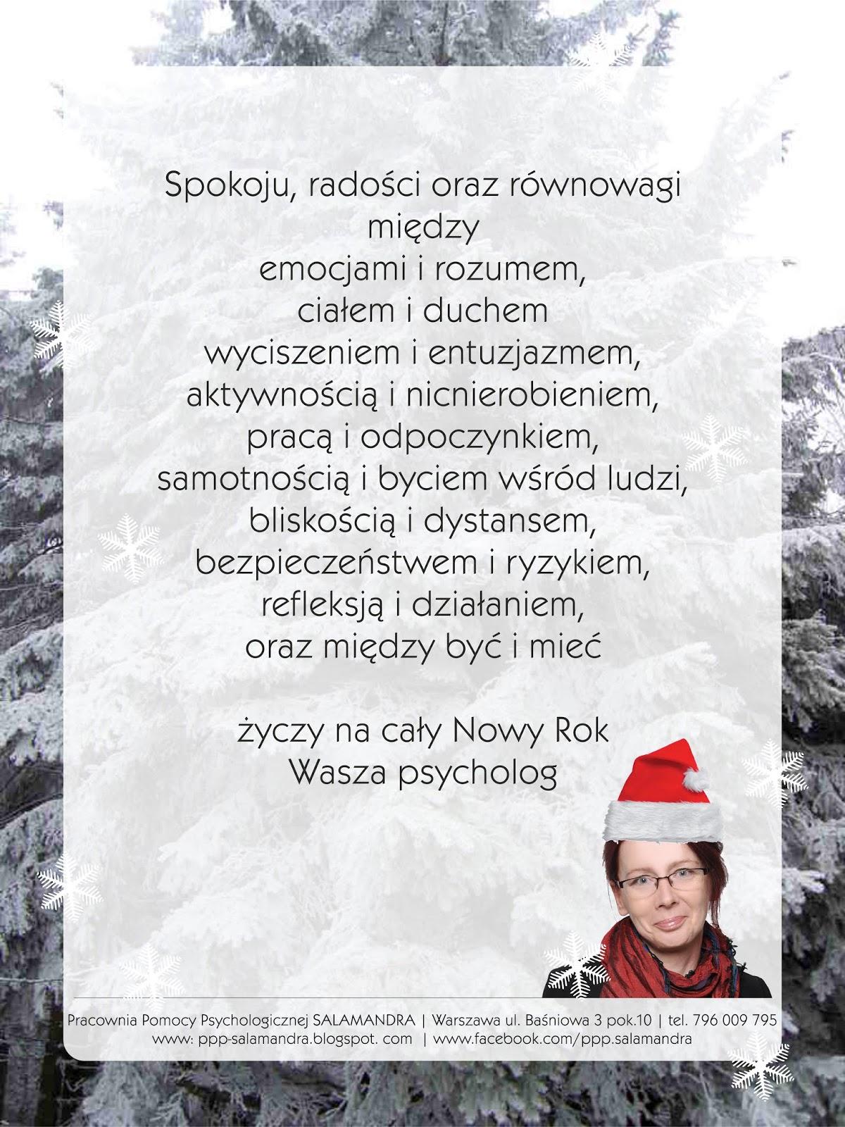 Psychologiczne życzenia świąteczne 2018 - na cały Nowy Rok