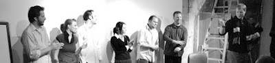 Hustlebot l. to r.: Fedor, Sweeney, Wichryk, Nangle, Ludwig, Phillis, ladder, Kiessling