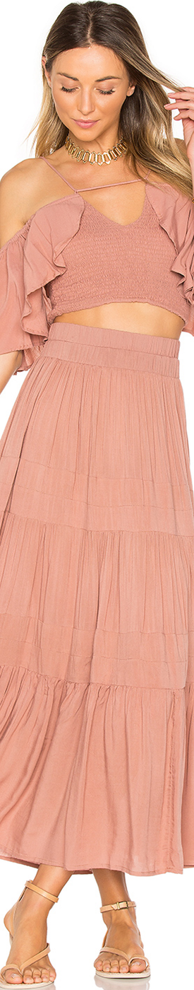 INDAH BARI SKIRT DUSTY ROSE