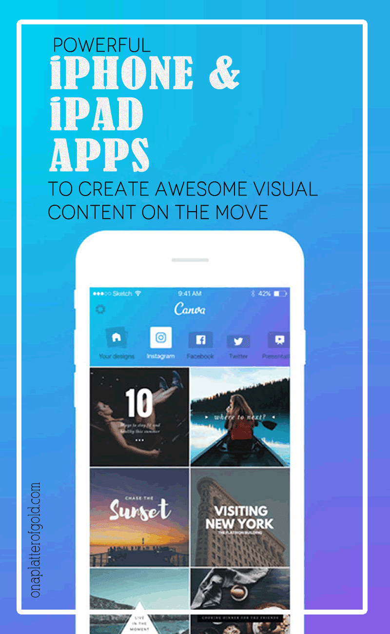 8 Powerful iOS Apps To Easily Create Visual Content On The Move