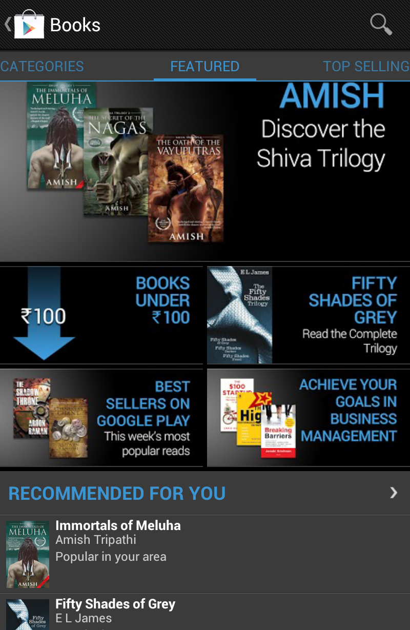 Google Play Books now available in India ~ KreativeGeek