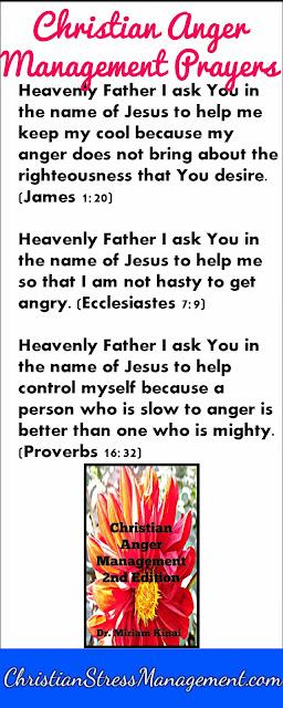 Christian anger management prayers