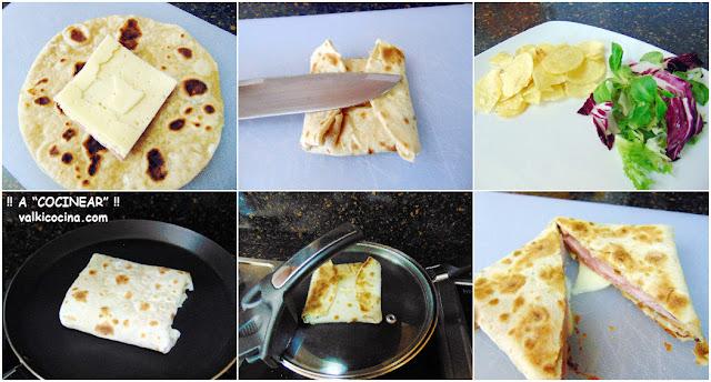 Wrap-sándwich de jamón y queso