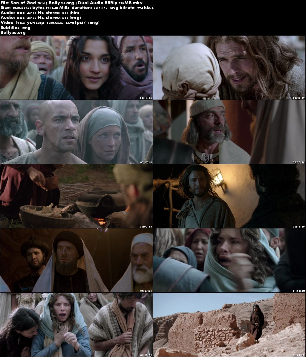 Son of God 2014 BluRay 950MB Hindi Dual Audio 720p Download