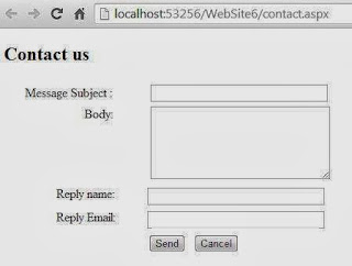 Designing Contact us page using ASP.NET and C#