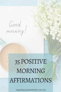 Positive morning affirmations. Daily affirmations to encourage positive thinking. A positive attitude will ensure you will make the best of the day.
