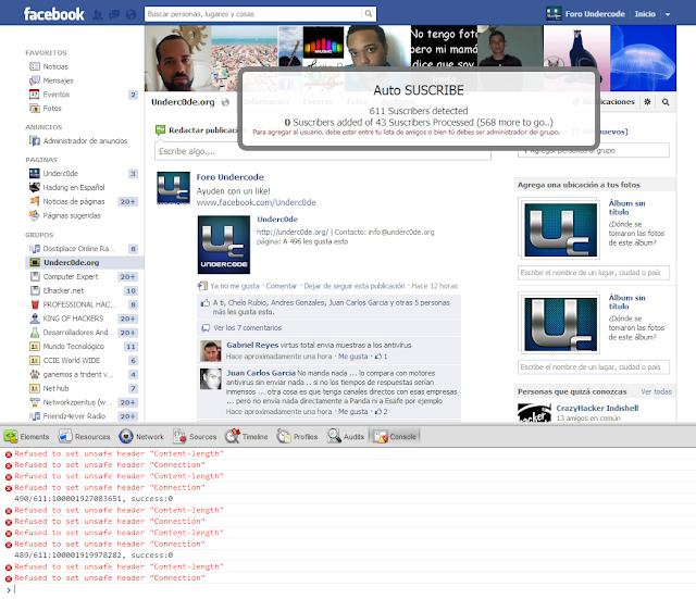 JavaScript][BASICO] Script Auto Subscribe Facebook - Underc0de