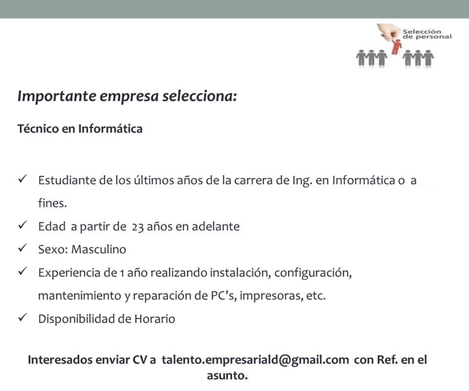Bolsa De Trabajo Paraguay Empleos 12 09 16