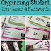 Organizing Student Usernames and Passwords