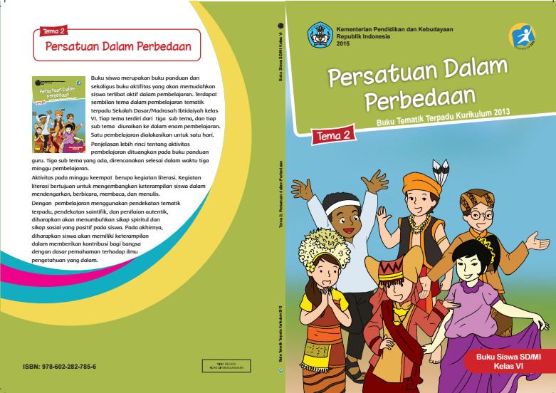 Download Buku Tematik Kurikulum 2013 SD/MI Kelas 6 Tema 2 Persatuan dalam Perbedaan Edisi Revisi Format PDF