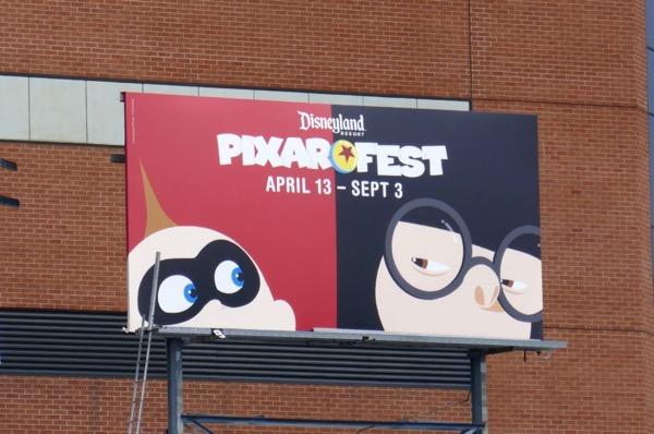 Jack Jack Edna Mode Pixar Fest Disneyland billboard