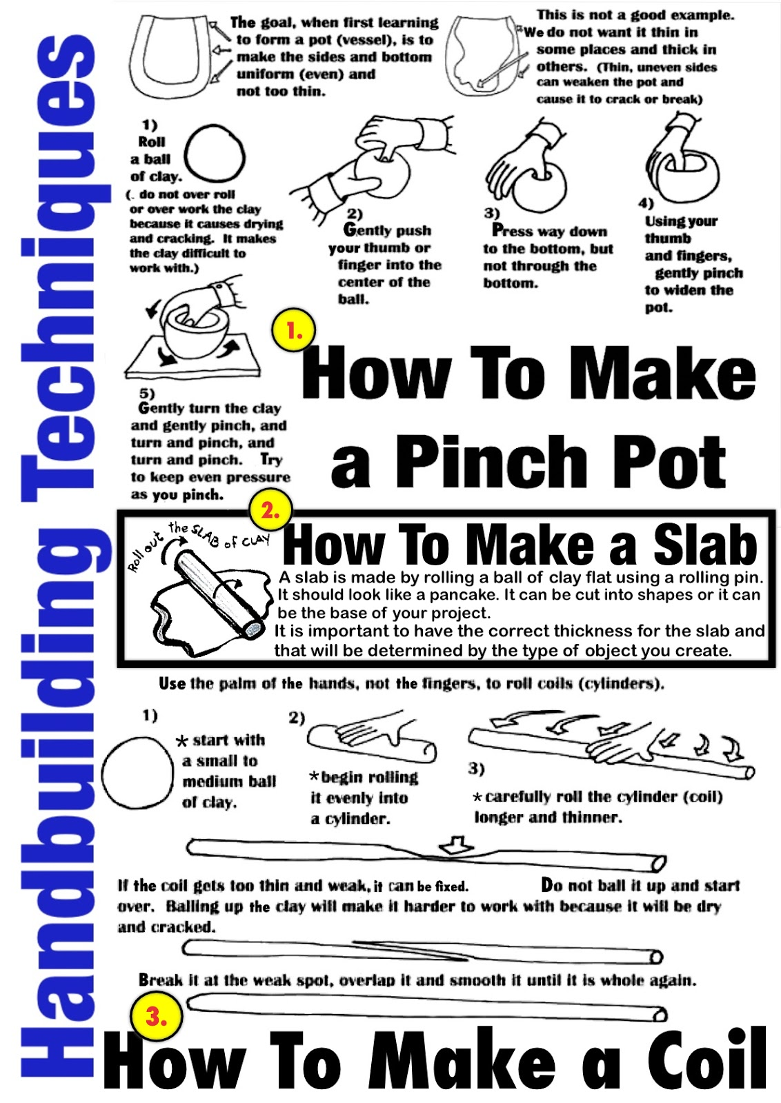 Clay Work Instructions