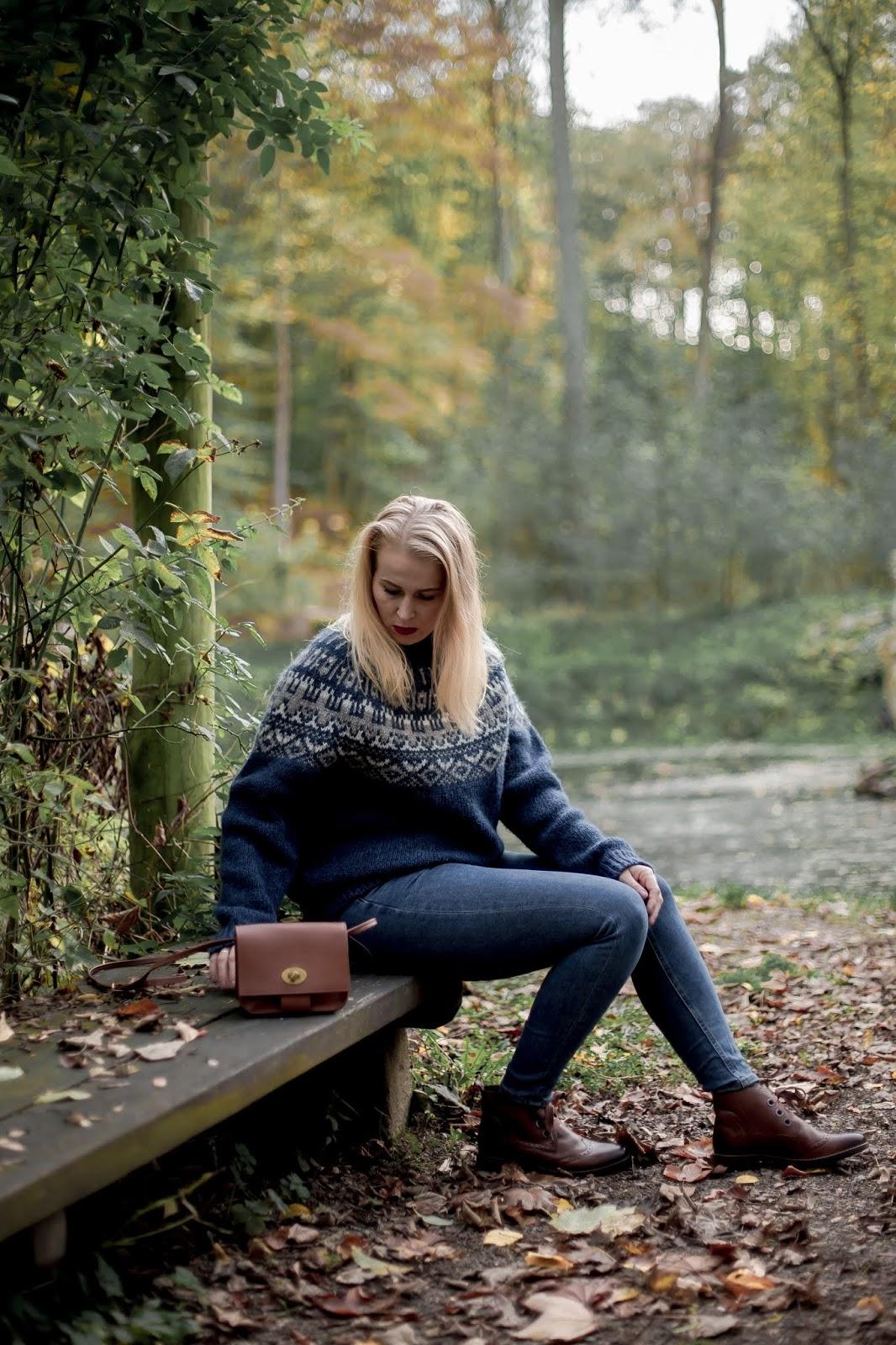 norweski sweter zimowy wełniany