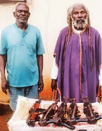 pastors arrested with ak47 rifles