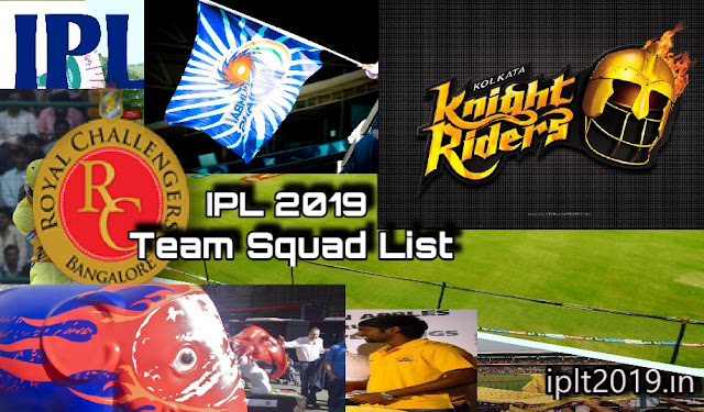 IPL 2019 Team Squad List