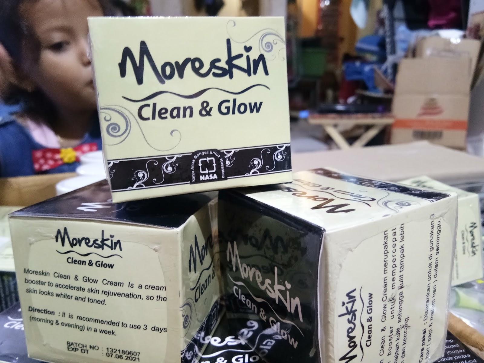 Rahasia Wajah Cerah Alami Dengan Clean And Glow Nasa Moreskin Cream Merupakan Booster Yang Dapat Mempercepat Peremajaan Kulit Sehingga Membuat Tampak Lebih Putih Dan