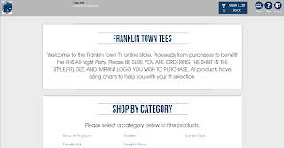 Franklin Town Tees now on sale - benefit the FHS All-night Party