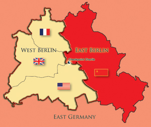 Florida Coal Cracker Chronicles Berlin After WWII Was Divided - Map of divided berlin