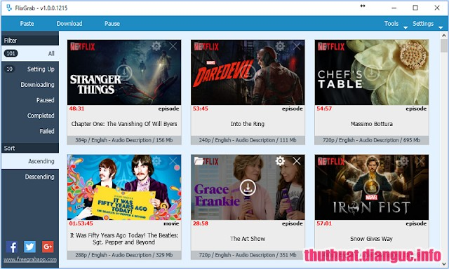 Download FlixGrab+ 1.2.1.45 Premium Full Cr@ck – Xem và Tải phim trên Netflix