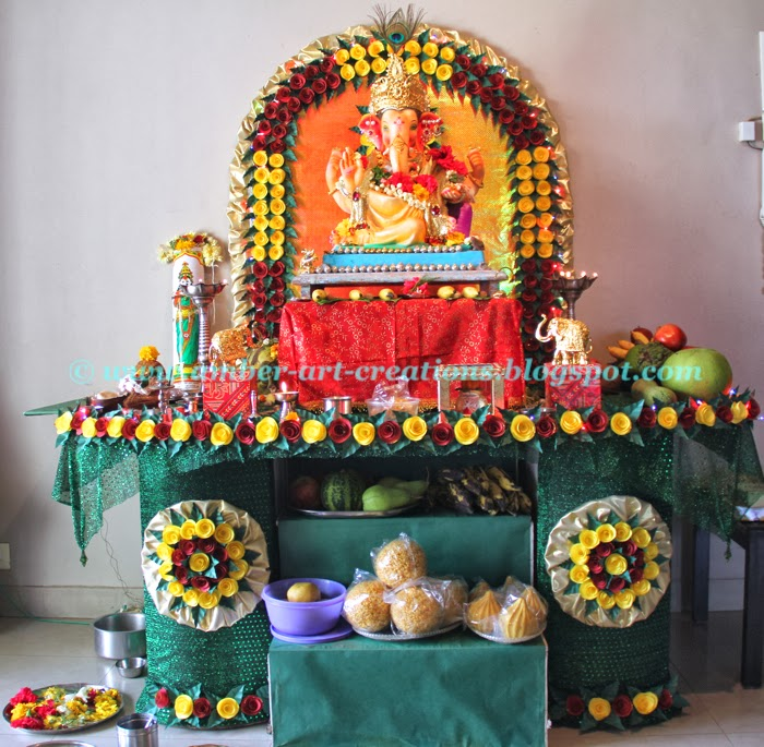 easy ganpati decoration ideas at home with flowers easy ganesh