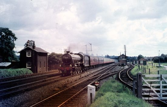 Marshmoor Junction showing the old gatekeper's house - 1960s Image from the Peter Miller Collection