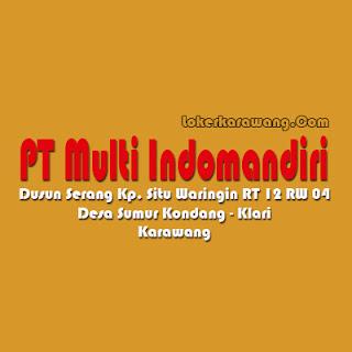 Lowongan Kerja Terbaru di PT Multi Indomandiri Sebagai Pengawas Produksi