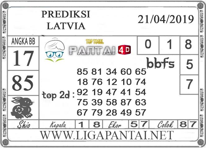 """Prediksi Togel """"LATVIA"""" PANTAI4D 21 APRIL 2019"""