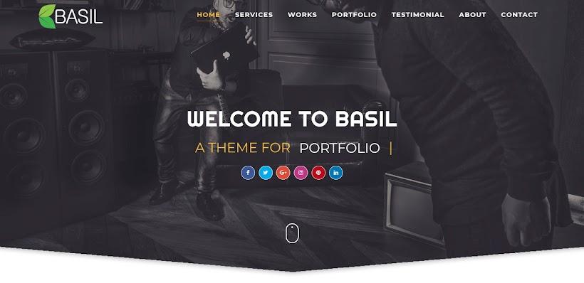 Basil Portfolio Free Blogger Template