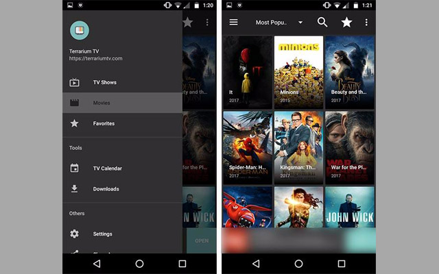 تطبيق Terrarium TV الأفضل لمشاهدة أحدث الأفلام والمسلسلات مترجمة وبجودة عالية