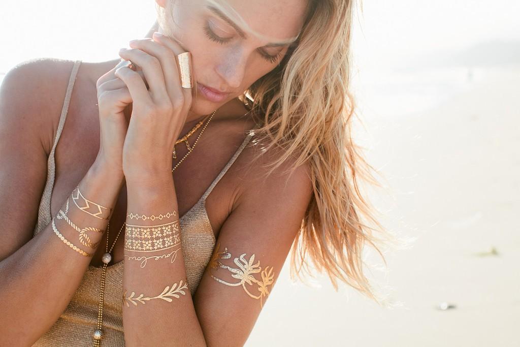 Tatuaże metaliczne v Sunburn tatoo