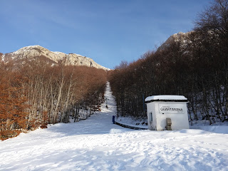 """Il tracciato della sciovia """"Quartarana"""" a Campo di Giove (Aq)"""