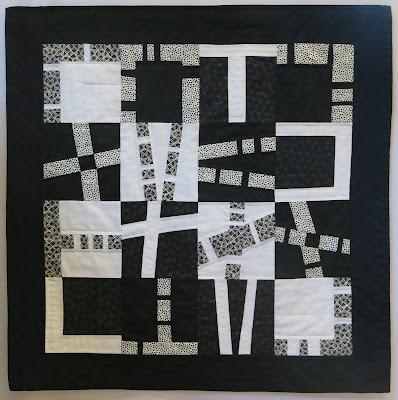Noir - blanc par Geneviève Modoux - Exposition de quilts - Patchmania 2017 à L'Abbaye