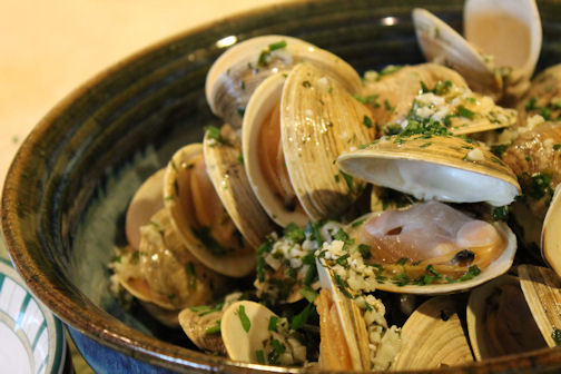 Grilled Clams with Lemon Herb Butter