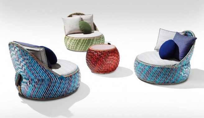 Marzua dala muebles para el jard n hechos con materiales for Muebles con cosas recicladas