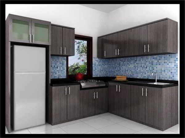 Desain Dapur Sederhana Bentuk L