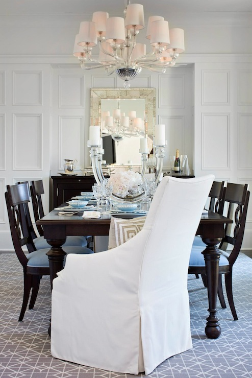 Plus The Chandeliers And Large Wall Mirrors Create A Glamorous Impression It Appears Traditional Dining Room