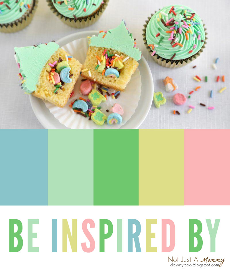 Be party palette inspired by Surprise Inside St. Patrick's Day Cupcakes