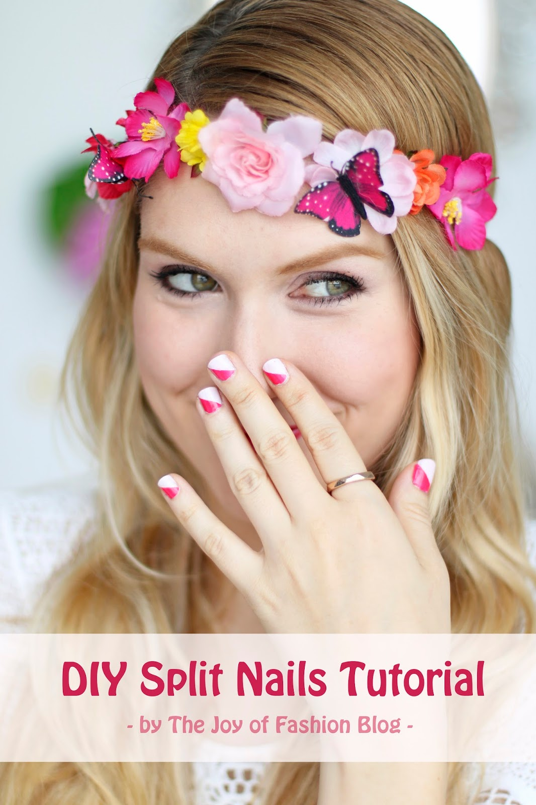 Super easy split nails tutorial! Click through for step by step