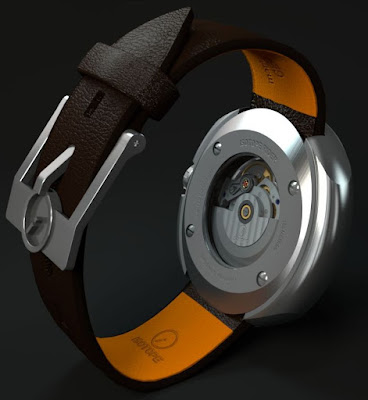 Isotope Rider Jumping-Hour automatic watch movement  ETA 2824-2